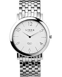 Links of London | Noble Slim Mens Stainless Steel Silver Bracelet W | Lyst