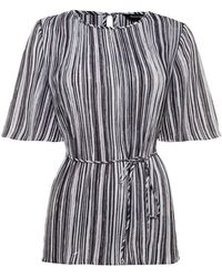 Ellen Tracy - Pleated Stripe Top - Lyst