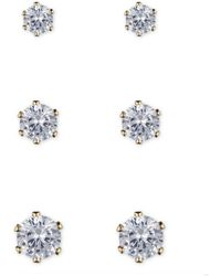 Anne Klein - Crystal Stud Earring Set - Lyst