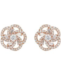 Mikey | Spiral Design Baugette Cubic Earring | Lyst