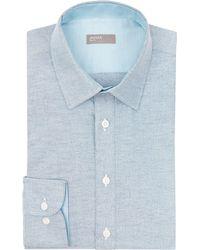 Jaeger - Men's Slim Melange Oxford Shirt - Lyst