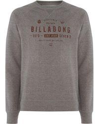 Billabong - Brushed Fleece Crewneck Fleece - Lyst