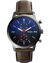 Fossil - Townsman Leather Strap Watch - Lyst