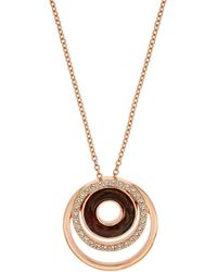Aurora | Rose Gold Plated Halo Pendant | Lyst