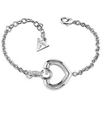 Guess - Gisèle Ubb83006-l G Heart Bracelet - Lyst