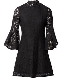 Izabel London - Ruffle And Frill Sleeve Lace Dress - Lyst