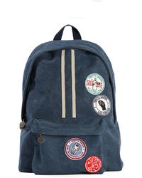 Pretty Green - Washed Canvas Backpack With Badges - Lyst