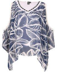 Izabel London - Tropical Print Trim Top - Lyst