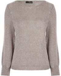 Jane Norman - Metallic Jumper - Lyst