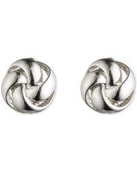 Anne Klein - Silver Knot Clip Earring - Lyst