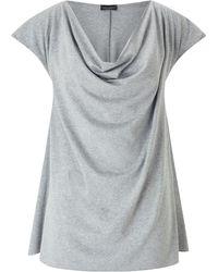 James Lakeland - Cowl Neck T-shirt - Lyst