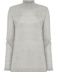 Label Lab - Metallic Cold Elbow Jumper - Lyst
