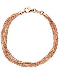 Links of London - Essentials Rose Silk 10 Row Bracelet - Lyst