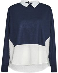 French Connection - Dotty Mix 2 In 1 Jersey Jumper - Lyst