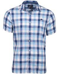 Raging Bull - Men's Short Sleeve Large Check Shirt - Lyst
