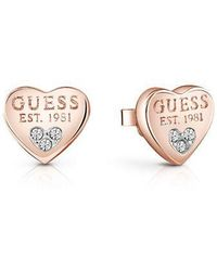 Guess - All About Shine 1981 Padlock Earrings - Lyst