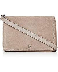 Label Lab - Double Pouch Leather Crossbody - Lyst