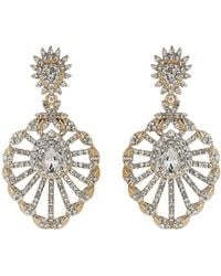 Mikey - Filigree Design Spread Crystal Earring - Lyst