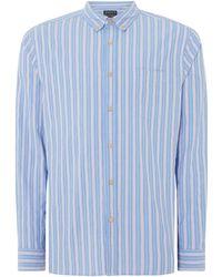 Howick - Men's Pevensey Stripe Long Sleeve Shirt - Lyst