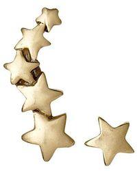 Pilgrim | Gold Plated Star Earrings | Lyst