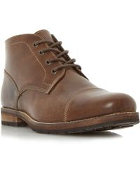 Howick - Cheetah Toecap Detail Lace Up Boots - Lyst