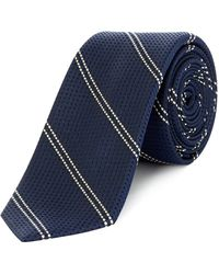 Kenneth Cole - Iverson Woven Textured Stripe Tie - Lyst