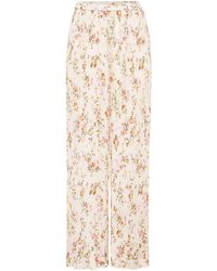 Replay - Pleated Floral-print Culottes - Lyst