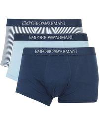 Emporio Armani - Men's 3 Pack Mutande Waistband Trunk - Lyst