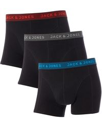 Jack & Jones | Contrast Waistband 3pk Trunk | Lyst