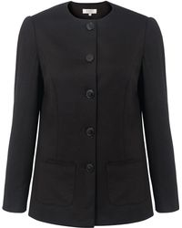 East - Ponte Button Jacket - Lyst