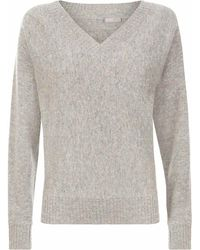 Jaeger - Donegal Wool V-neck Sweater - Lyst