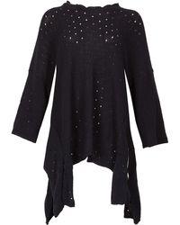 Feverfish - Asymmetric Hem Knitted Tunic - Lyst