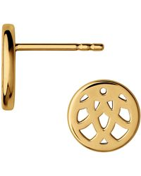 Links of London - Timeless 18kt Yellow Gold Vermeil Stud Earrings - Lyst