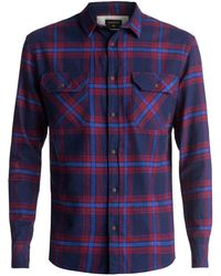 Quiksilver - Men's Fitz Forktail Long Sleeve Shirt - Lyst