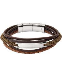 Fossil - Vintage Casual Multi Strand Bracelet - Lyst