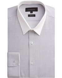 Limehaus - Plain Slim Fit End On End Formal Shirt - Lyst