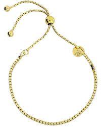 Azendi - Gold Vermeil Adjustable Flat Bracelet - Lyst