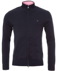 Eden Park - Cotton Zip Up Cardigan With High Neck - Lyst