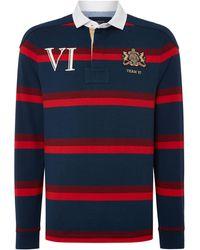 Howick - Men's Decker Printed Stripe Long Sleeve Rugby Shirt - Lyst