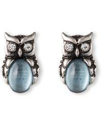 Lonna & Lilly - Owl Stud Earrings - Lyst