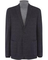 Richard James - Mens Brushed Ctn Check Slim Wool Jacket - Lyst
