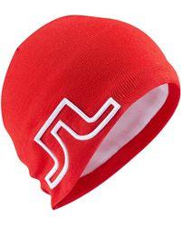 J.Lindeberg - Acrylic Mix Beanie Hat - Lyst