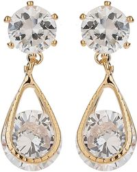 Mikey | Crystal Bead Dangling Drop Earring | Lyst