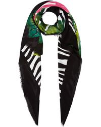 Guess - Zebra And Flamingo Print Not Coordinated Scarf - Lyst