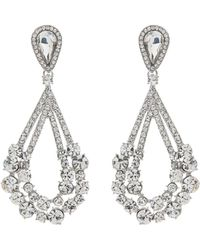 Mikey - Large Stones Crystal Studded Earring - Lyst