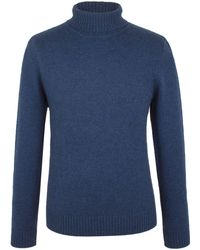 Racing Green - Scott Lambswool Polo Neck Knit - Lyst