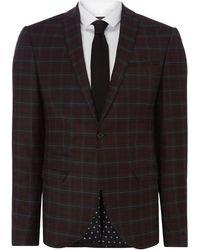 Label Lab | Axl Sb1 Peak Lapel Check Skinny Suit Jacket | Lyst