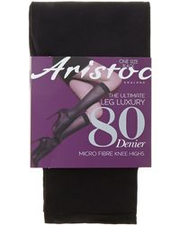 Aristoc - The Ultimate Luxury Leg 80 Denier Knee High Socks - Lyst