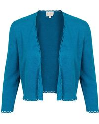 East - Cropped Linen Cardi - Lyst