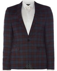 Label Lab - Haynes Grid Check Suit Jacket - Lyst